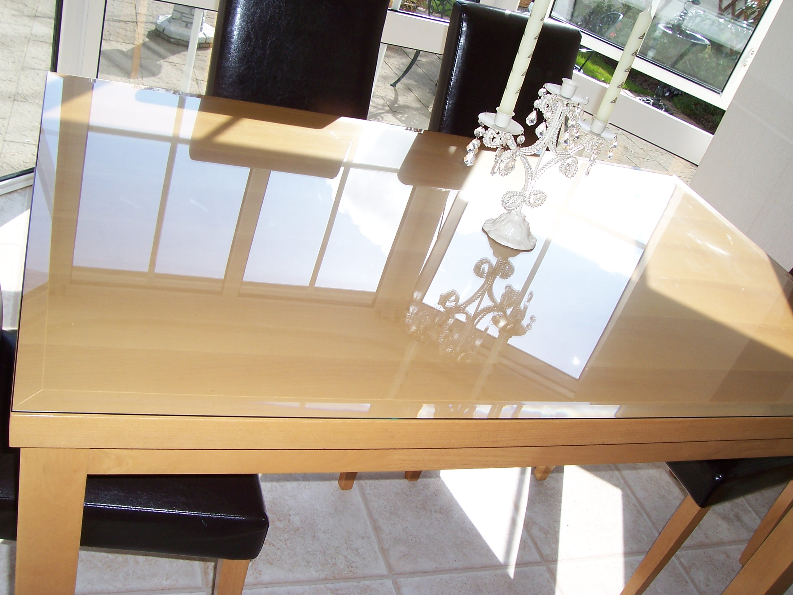 Plexiglass Table Top Protector Bevel Table Top